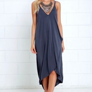 Lulu's Mood and Melody Washed Blue High-Low Dress